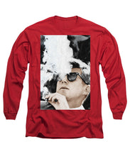 John F Kennedy Cigar And Sunglasses 2 Large - Long Sleeve T-Shirt