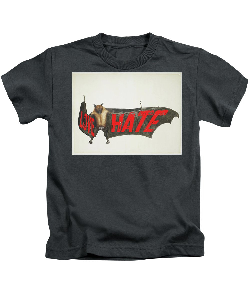 Love Hate Bat - Kids T-Shirt