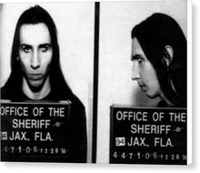 Marilyn Manson Mug Shot Horizontal - Canvas Print