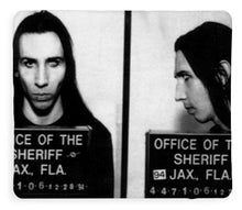 Marilyn Manson Mug Shot Horizontal - Blanket