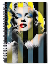 Marilyn Monroe Stripes - Spiral Notebook