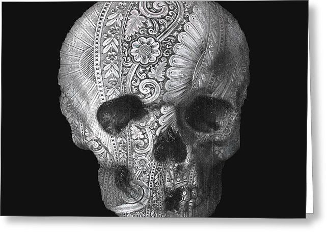 Metal Skull - Greeting Card