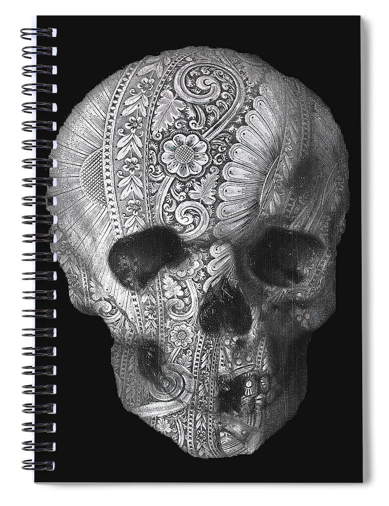 Metal Skull - Spiral Notebook
