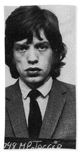 Mick Jagger Mug Shot Vertical - Beach Towel