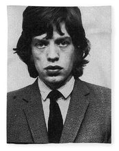 Mick Jagger Mug Shot Vertical - Blanket