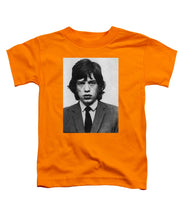 Mick Jagger Mug Shot Vertical - Toddler T-Shirt