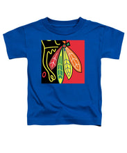 Native American Indian Blackhawks Of Chicago - Toddler T-Shirt