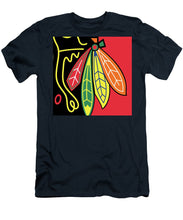 Native American Indian Blackhawks Of Chicago - Men's T-Shirt (Athletic Fit)