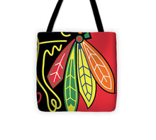 Native American Indian Blackhawks Of Chicago - Tote Bag