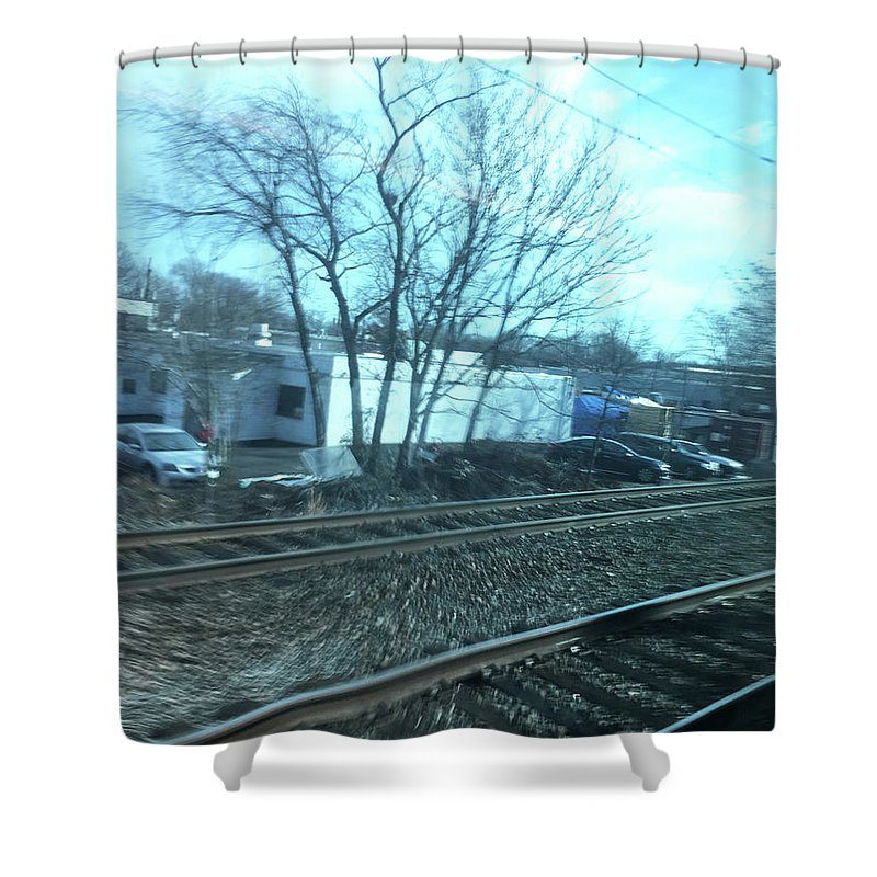 New Jersey From The Train 4 - Shower Curtain