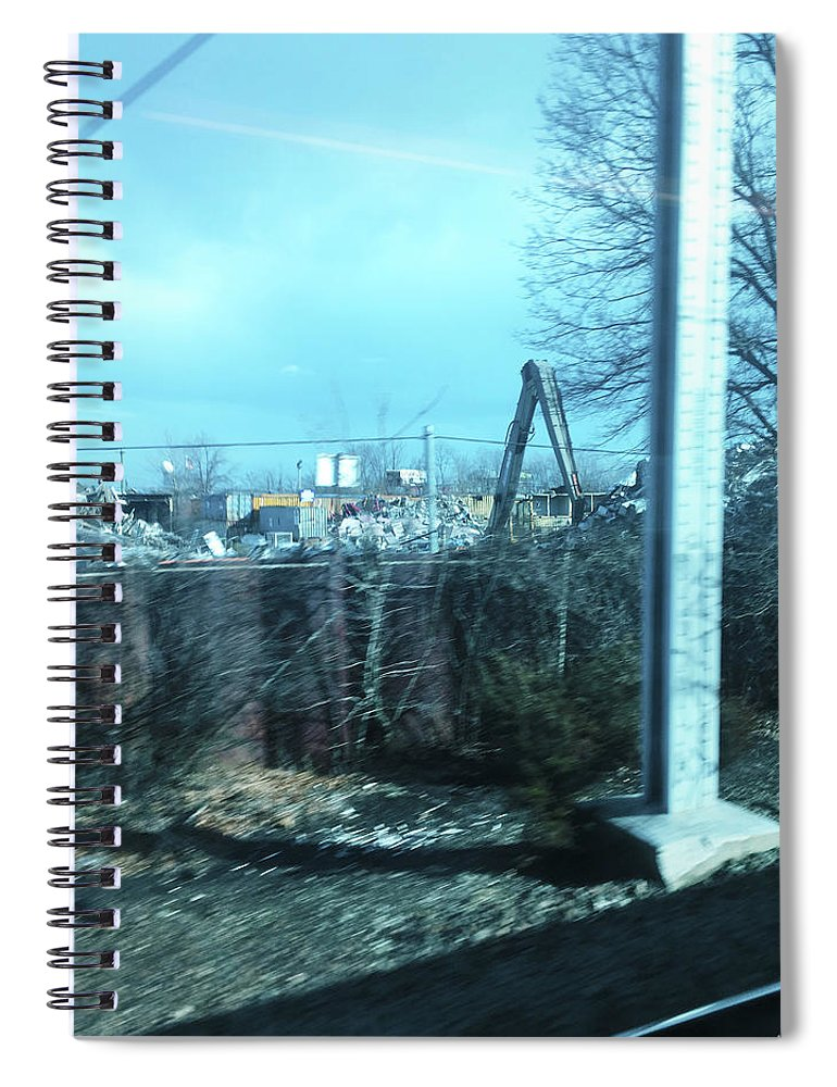 New Jersey From The Train 7 - Spiral Notebook