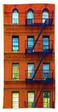 New York City Apartment Building 2 - Beach Towel
