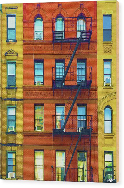 New York City Apartment Building 2 - Wood Print