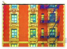 New York City Apartment Building 3 - Carry-All Pouch