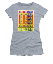 New York City Apartment Building 3 - Women's T-Shirt (Athletic Fit)