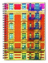 New York City Apartment Building 3 - Spiral Notebook