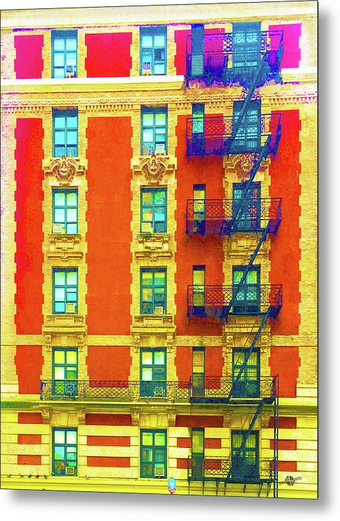 New York City Apartment Building 3 - Metal Print