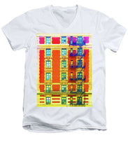 New York City Apartment Building 3 - Men's V-Neck T-Shirt