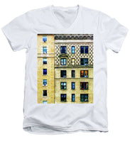 New York City Apartment Building - Men's V-Neck T-Shirt