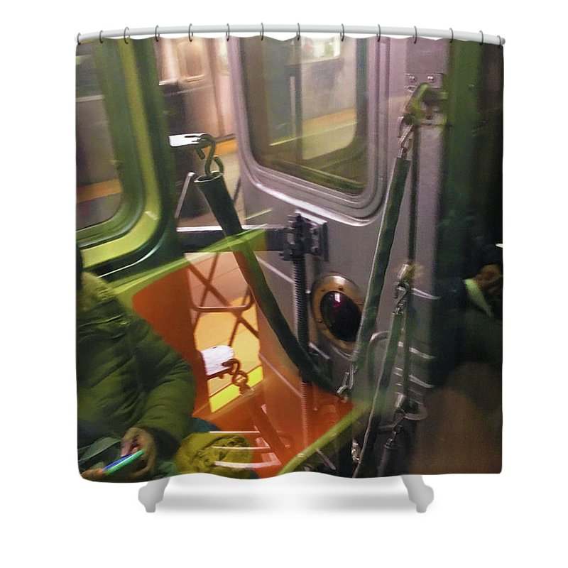 Photo On The New York City Subway - Shower Curtain