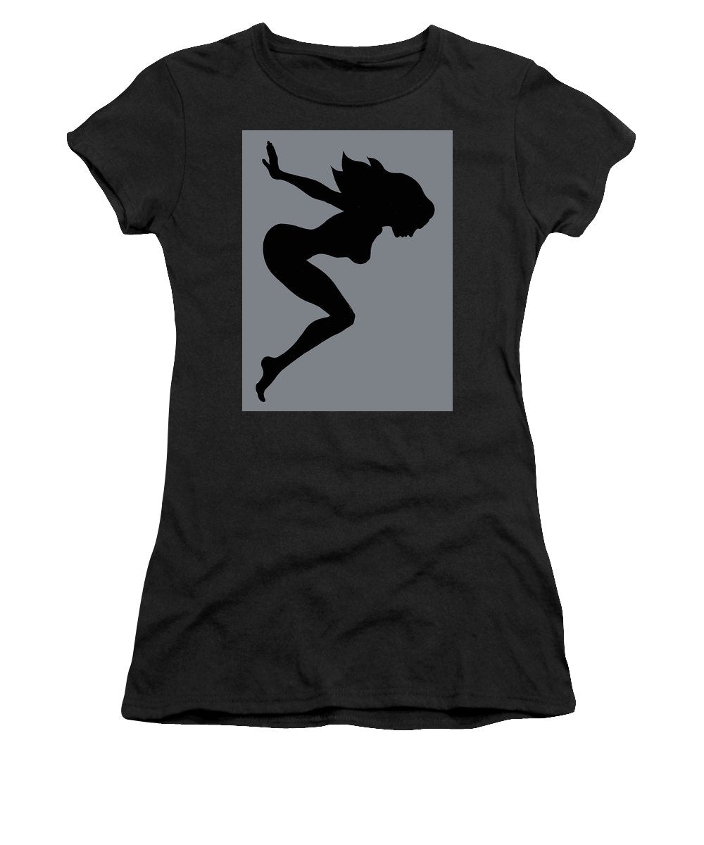 Our Bodies Our Way Future Is Female Feminist Statement Mudflap Girl Diving - Women's T-Shirt (Athletic Fit)
