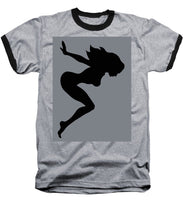 Our Bodies Our Way Future Is Female Feminist Statement Mudflap Girl Diving - Baseball T-Shirt