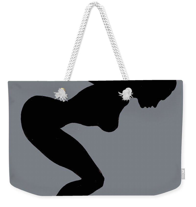 Our Bodies Our Way Future Is Female Feminist Statement Mudflap Girl Diving - Weekender Tote Bag
