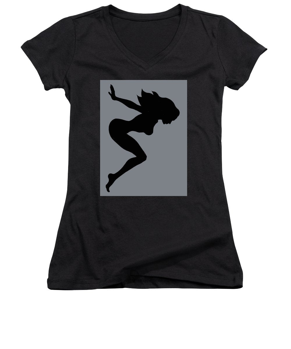 Our Bodies Our Way Future Is Female Feminist Statement Mudflap Girl Diving - Women's V-Neck (Athletic Fit)