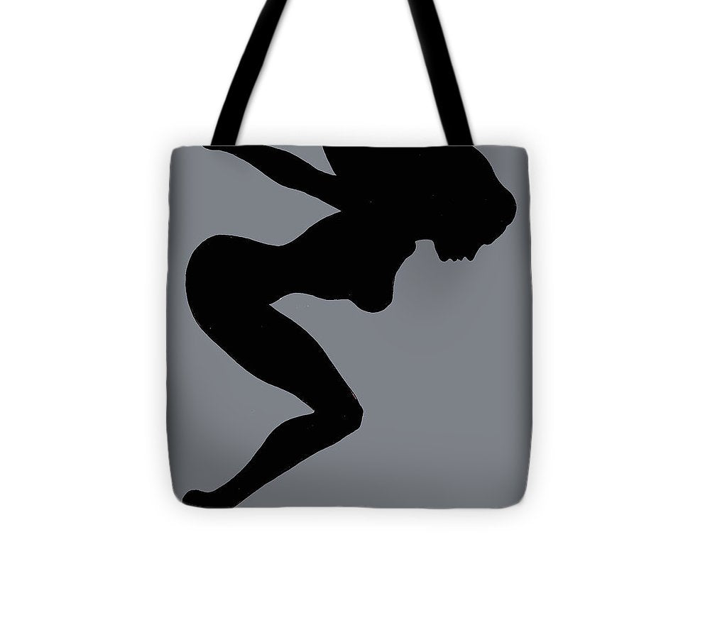 Our Bodies Our Way Future Is Female Feminist Statement Mudflap Girl Diving - Tote Bag