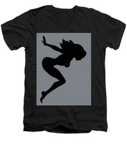 Our Bodies Our Way Future Is Female Feminist Statement Mudflap Girl Diving - Men's V-Neck T-Shirt