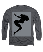 Our Bodies Our Way Future Is Female Feminist Statement Mudflap Girl Diving - Long Sleeve T-Shirt