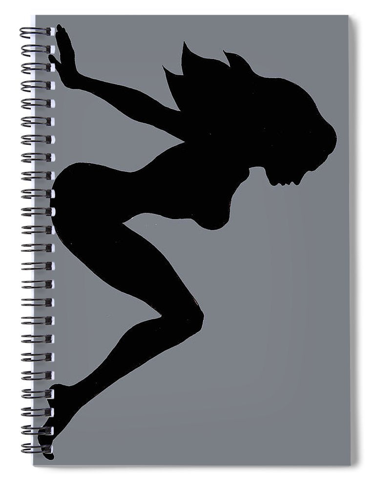 Our Bodies Our Way Future Is Female Feminist Statement Mudflap Girl Diving - Spiral Notebook