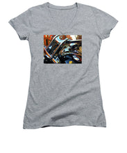 Painting Cold Chrome New York - Women's V-Neck (Athletic Fit)