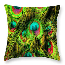 Peacock Or Flower 3 - Throw Pillow