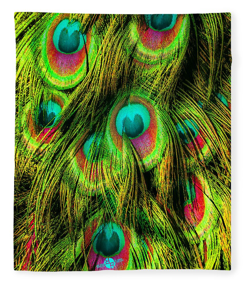Peacock Or Flower 3 - Blanket