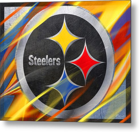 Pittsburgh Steelers Football - Metal Print
