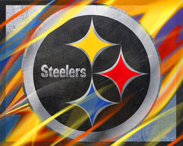 Pittsburgh Steelers Football - Art Print