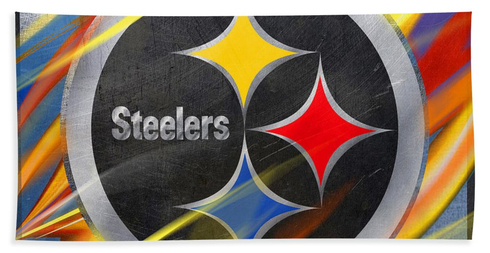 Pittsburgh Steelers Football - Bath Towel