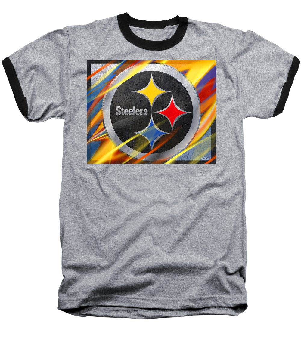 Pittsburgh Steelers Football - Baseball T-Shirt
