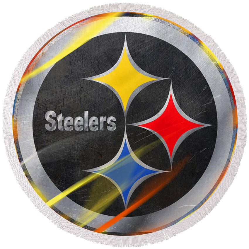 Pittsburgh Steelers Football - Round Beach Towel