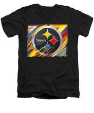 Pittsburgh Steelers Football - Men's V-Neck T-Shirt