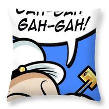 Popeye Laughs - Throw Pillow