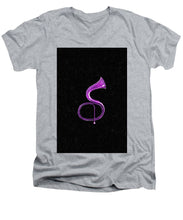 Purple Italian Basso - Men's V-Neck T-Shirt
