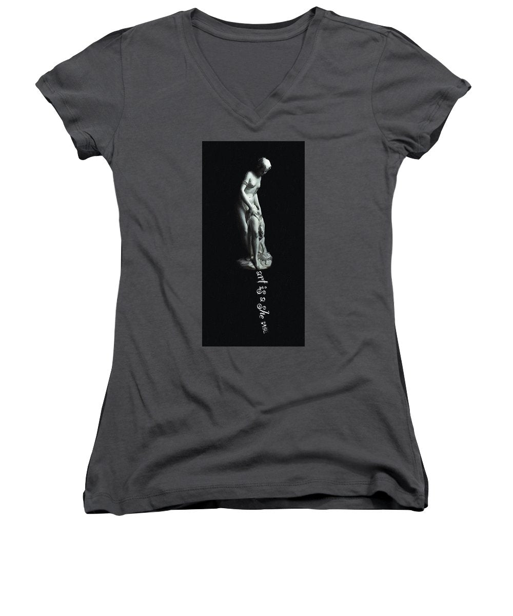 Rise Art Is A She - Women's V-Neck (Athletic Fit)