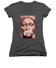 Rise Art Is Beautiful - Women's V-Neck (Athletic Fit)
