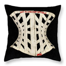 Rise Art Is Uncomfortable                          - Throw Pillow