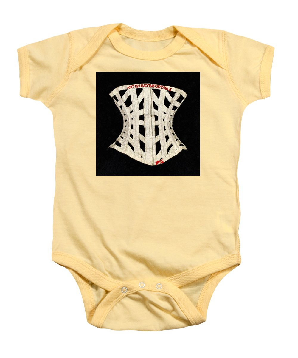 Rise Art Is Uncomfortable                          - Baby Onesie