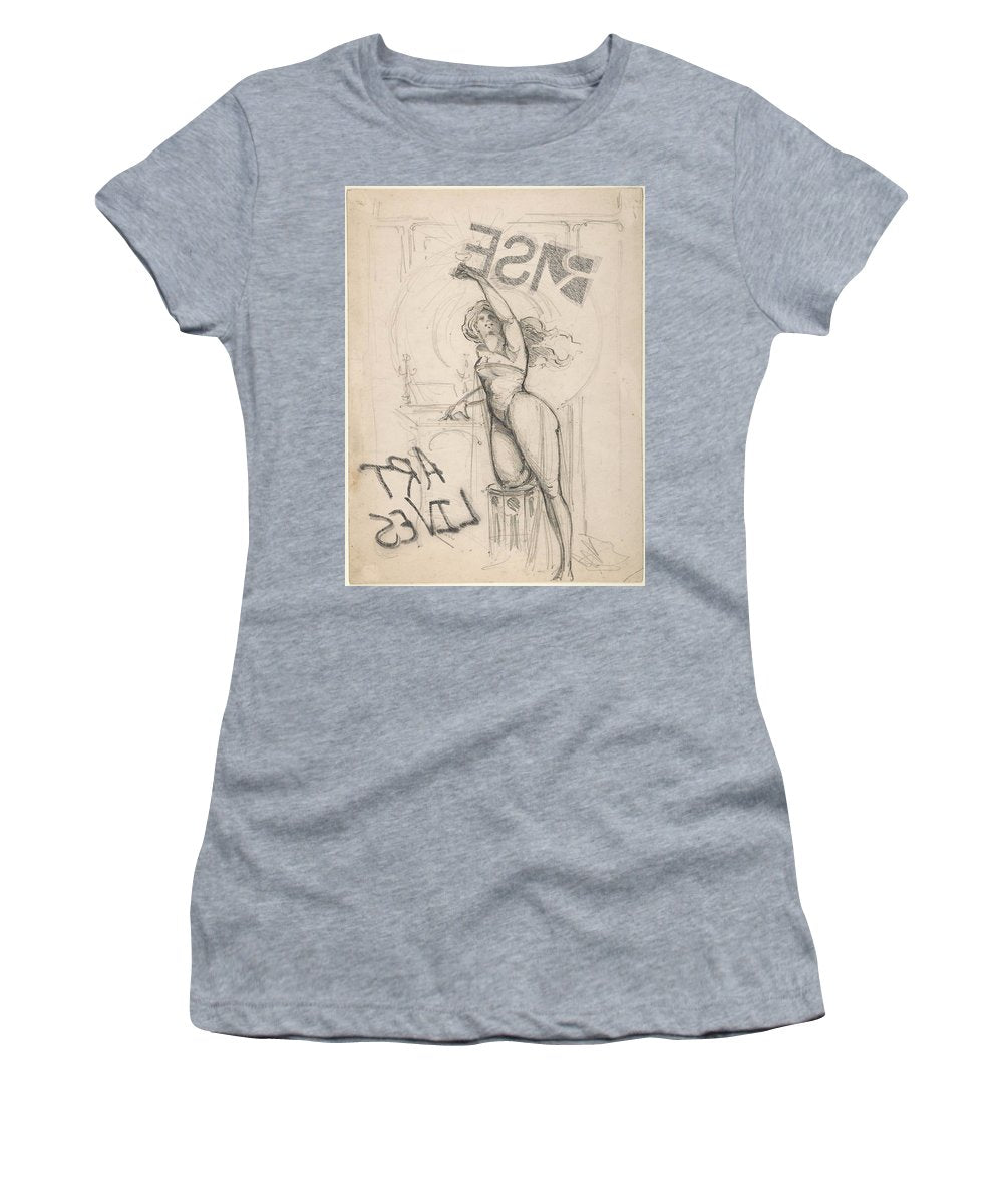 Rise Art Lives - Women's T-Shirt (Athletic Fit)