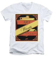 Rise Art Wants Your Soul - Men's V-Neck T-Shirt