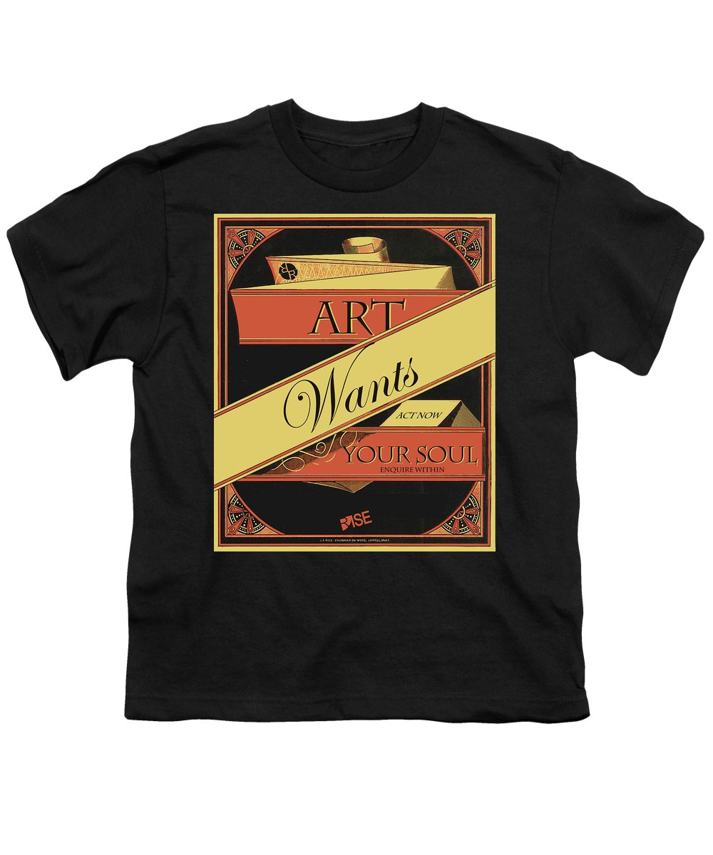 Rise Art Wants Your Soul - Youth T-Shirt